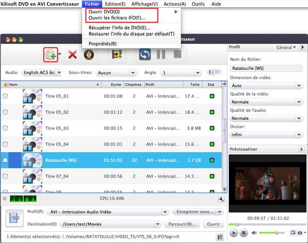 Xilisoft DVD en AVI Convertisseur pour Mac