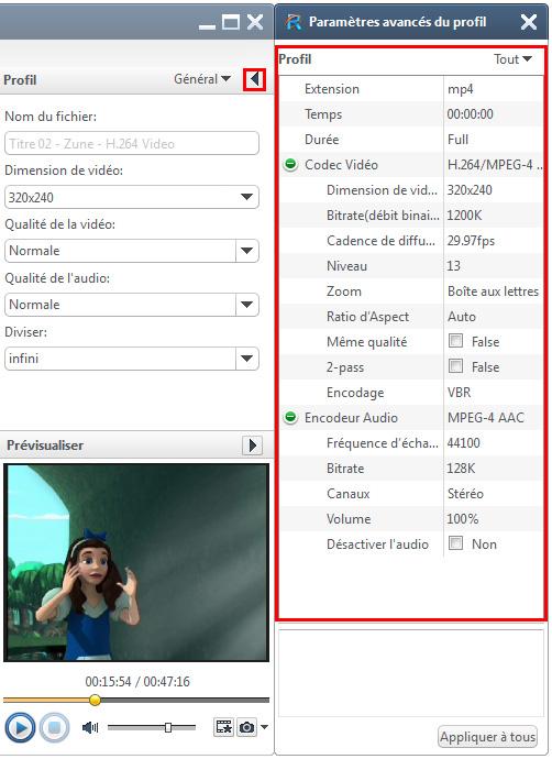 Xilisoft DVD pour Zune Convertisseur