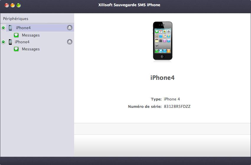 Xilisoft Sauvegarder SMS iPhone pour Mac